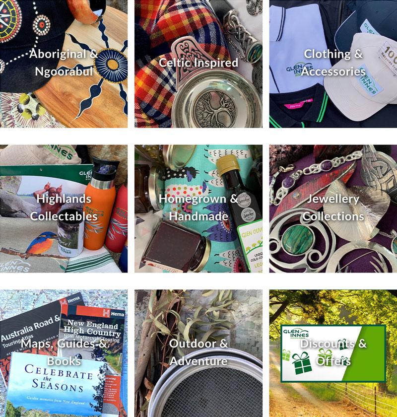 Glen Innes Highlands Shop - Product categories